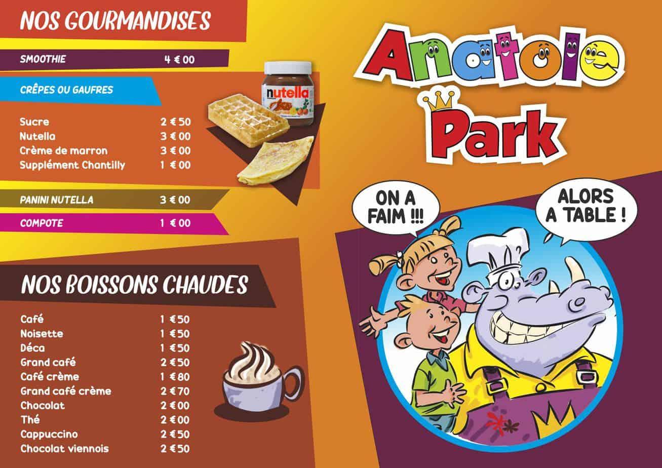 Anatole Carte Snack Pepsi A5 Recto