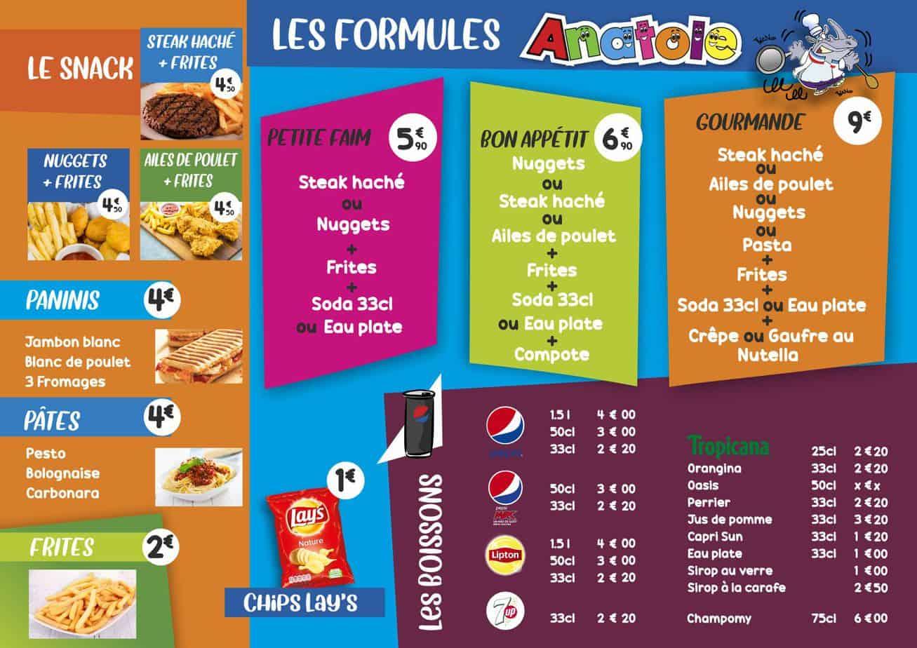 Anatole Carte Snack Pepsi A5 Verso